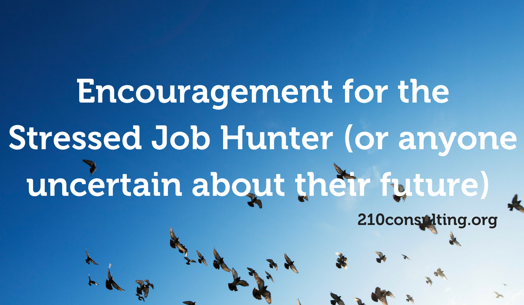 Encouragement for the Stressed Job Hunter (or anyone uncertain about their future)