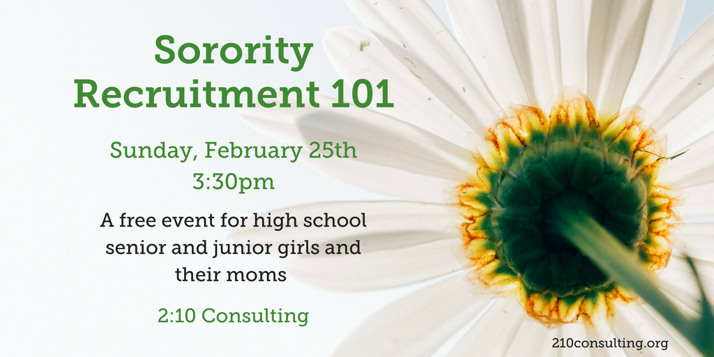 2018 Sorority Recruitment 101 Event