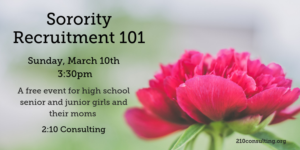 2019 Sorority Recruitment 101 Event