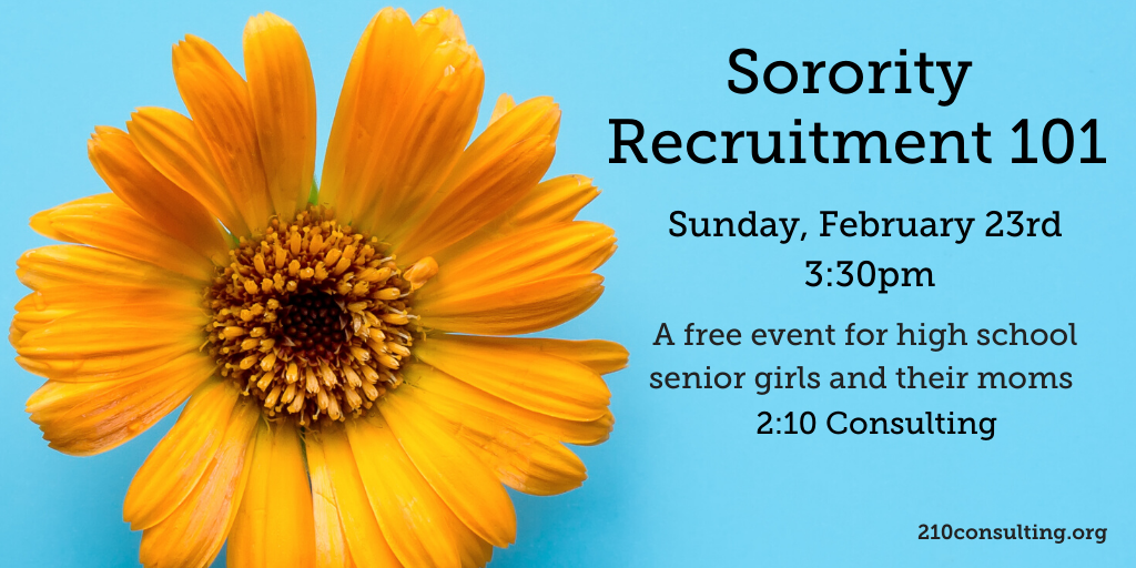 2020 Sorority Recruitment 101 Event