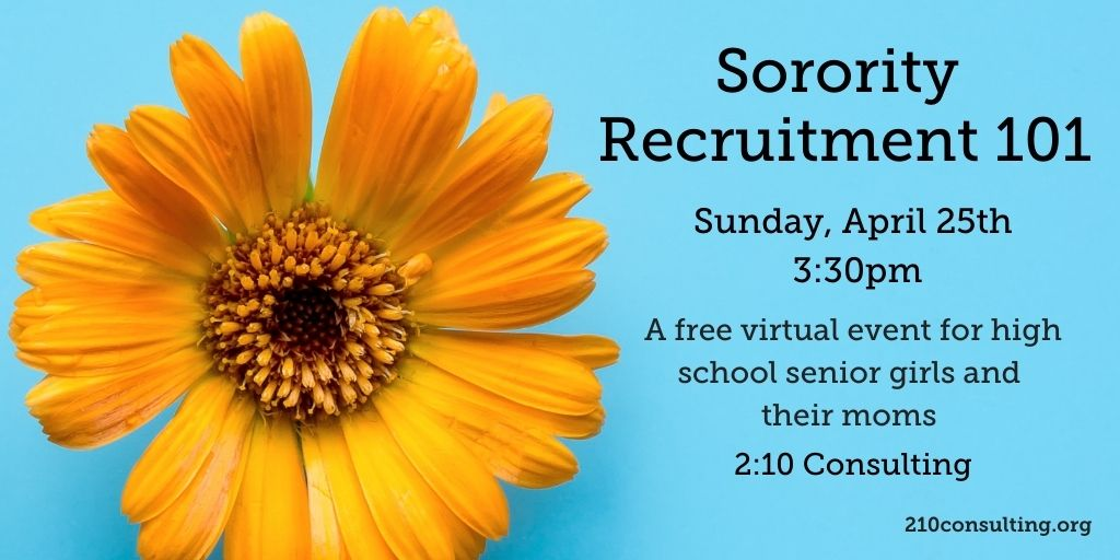 2021 Sorority Recruitment 101 Event